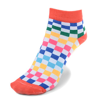 Assorted (6 pairs/pack) Women's checkered Low Cut Socks LN6S-690