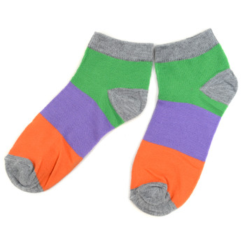 Assorted (6 pairs/pack) Women's Multicolor Low Cut Socks LN6S-626