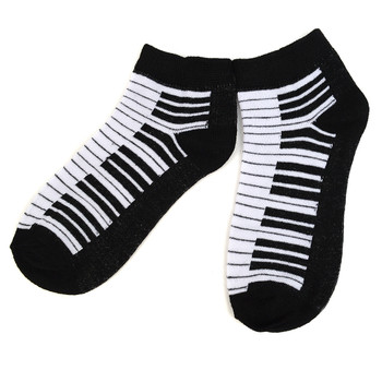 Assorted  (6 pairs/pack) Women's Music Theme Low Cut Socks LN6S-609