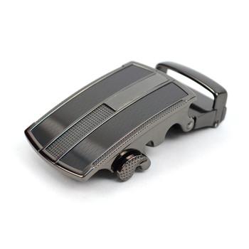 Men's Genuine Leather Sliding Buckle Ratchet Belt MGLBB19