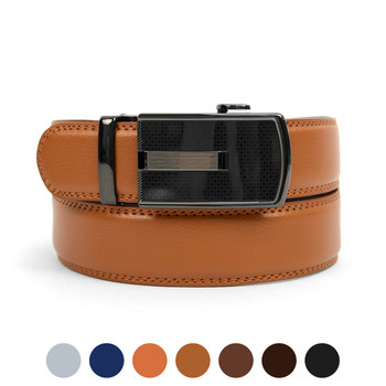 Men's Genuine Leather Sliding Buckle Ratchet Belt MGLBB20