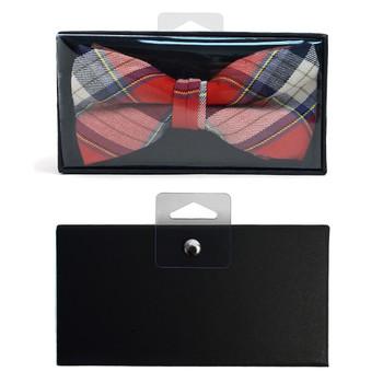 Men's  Plaid Flannel Cotton Banded Bow Tie NFB1636