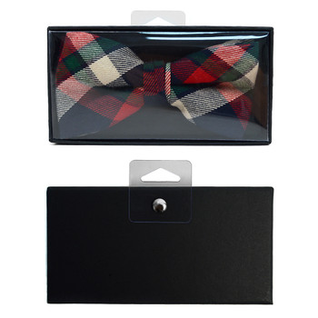 Men's  Plaid Flannel Cotton Banded Bow Tie NFB1638