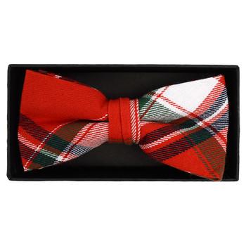 Men's  Plaid Flannel Cotton Banded Bow Tie NFB1641