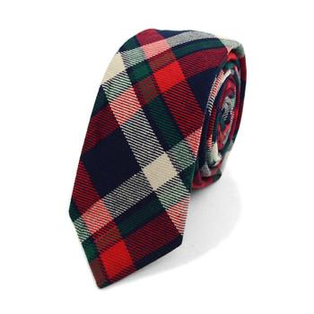 """Men's Plaid Flannel 2.25"""" Cotton Slim Tie - MPPW1638"""