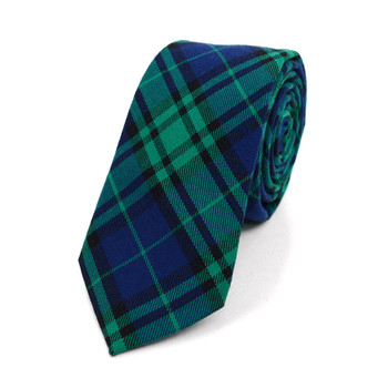 "Men's Plaid Flannel 2.25"" Cotton Slim Tie - MPPW1639"