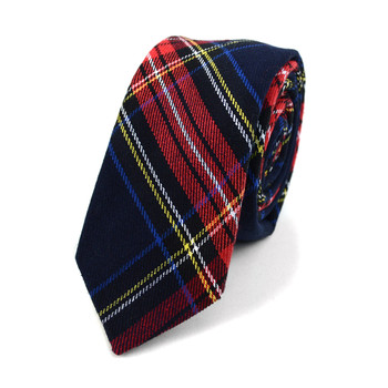 "Men's Plaid Flannel 2.25"" Cotton Slim Tie - MPPW1640"