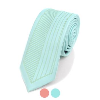 "Striped Microfiber Poly Woven 2.25"" Slim Panel Tie MPPW1626"