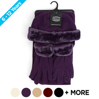 6pc Pack Junior's Fleece Winter Set WSET60JR