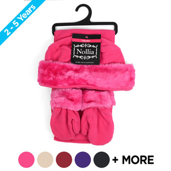 6pc Pack Toddler's (2-5 Years Old) Fleece Winter Set WSET60CH