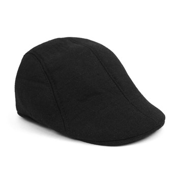 Fall/Winter Solid Black Ivy Hat - IFW1730-BLK