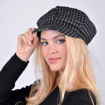 Fall/Winter Unisex British Newsboy Windowpane Beret Style Cap - WNH1760-63
