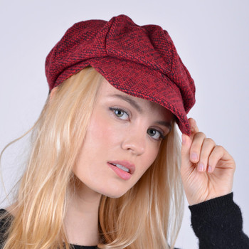 Fall/Winter Unisex British Newsboy Barleycorn Beret Style Cap - WNH1761-65-66