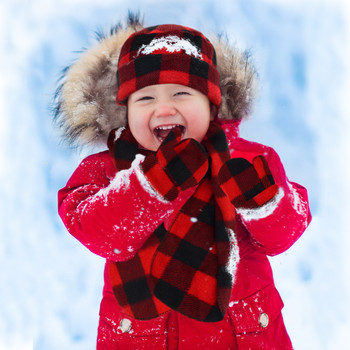 Toddler's (2-5 Years Old) Fleece Red Plaid Winter Set WSET8020-RED-CH