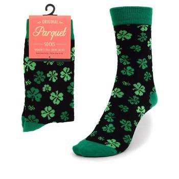 Women's Clover Pattern Novelty Socks LNVS1740