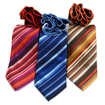 Striped Tie & Matching Pocket Round Set MPWTH170626