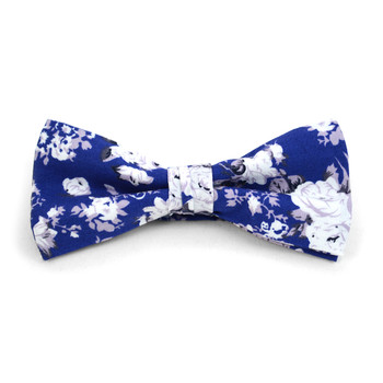 3pc Floral Wedding Cotton Banded Bow Tie - NFCB17118