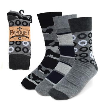 24-Packs (72 Pairs) Assorted Men's Casual Fancy Socks 3PKS/ASST2