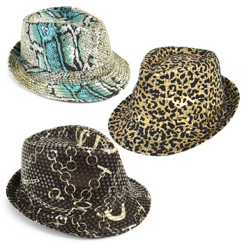 60pc Assorted Sequin Fedora Hats H1024-CO
