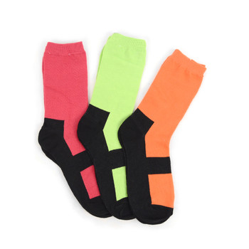 4-Packs (12 Pairs) Women's Solid Color with Black Bottom Socks EBC-646