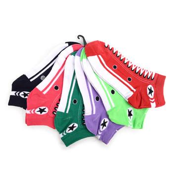 Assorted Pack (6 pairs) Women's Sneakers Shoes Low Cut Socks EBAH-601