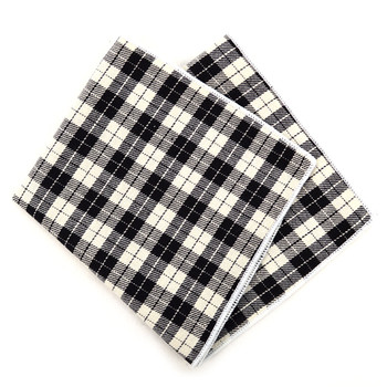 12pc Cotton Plaid Pocket Square Handkerchiefs - CH1721