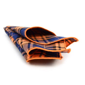 12pc Cotton Plaid Pocket Square Handkerchiefs - CH1725