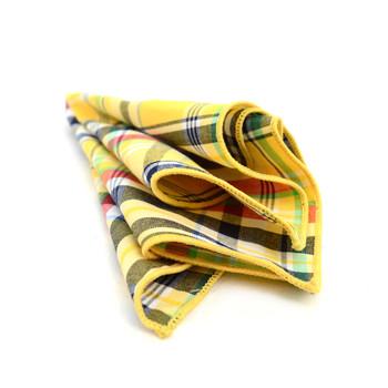 12pc Cotton Plaid Pocket Square Handkerchiefs - CH1731