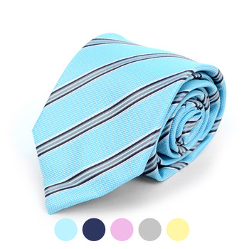 Striped Microfiber Poly Woven Tie - MPW5901