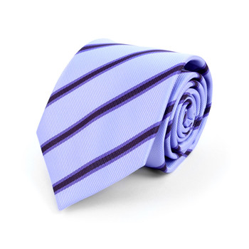 Striped Microfiber Poly Woven Tie - MPW5902