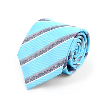 Striped Microfiber Poly Woven Tie - MPW5903