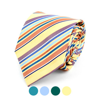 Striped Dots Microfiber Poly Woven Tie - MPW5921