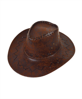 "6pc Pack 3.5"" Brim Cowboy Hat H9313"