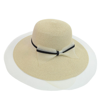 Women's Wide Brim Ribbon Band Floppy Hat LFH1890