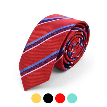 "Striped Microfiber Poly Woven 2.25"" Slim Tie - MPWS5903"