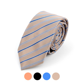 "Striped Microfiber Poly Woven 2.25"" Slim Tie - MPWS5905"