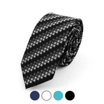 "Geometric Microfiber Poly Woven 2.25"" Slim Tie - MPWS5918"