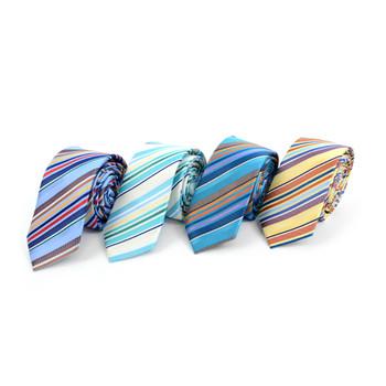 "Striped Microfiber Poly Woven 2.25"" Slim Tie - MPWS5921"