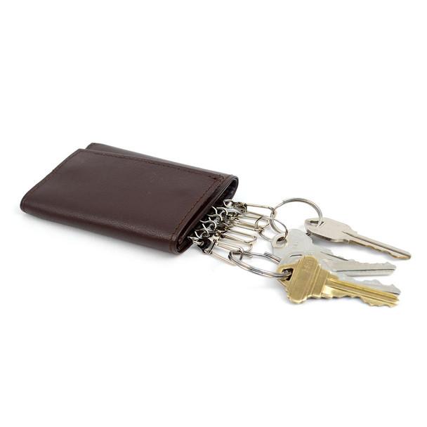 Genuine Leather Key Case Tri-Fold Wallets - 57