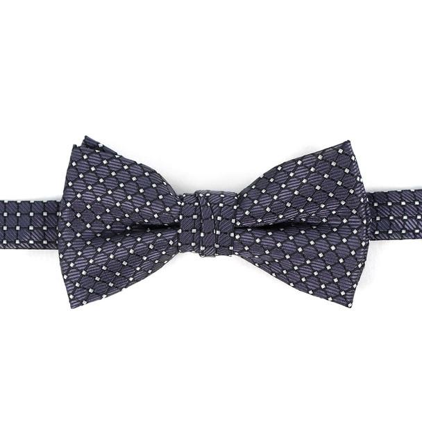 Boy's Black Clip-on Suspender & Plaid Bow Tie Set - BSBS-BK1