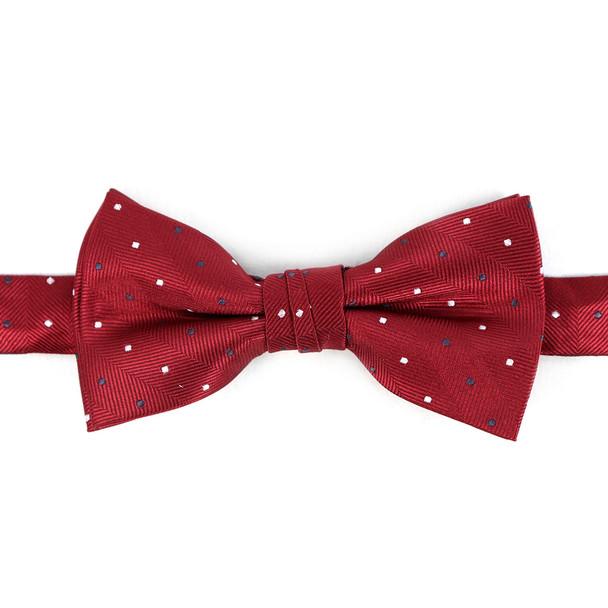 Boy's Burgundy Clip-on Suspender & Dots Bow Tie Set - BSBS-BUR1