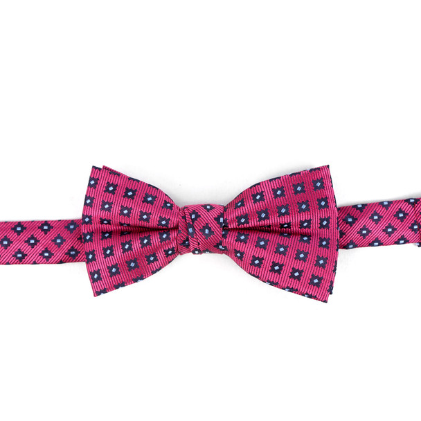 Boy's Fuchsia Clip-on Suspender & Striped Bow Tie Set - BSBS-FA1
