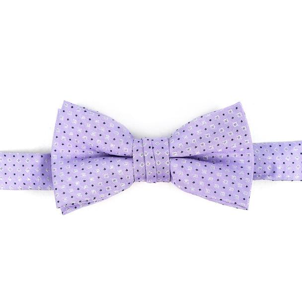 Boy's Lavender Clip-on Suspender & Striped Bow Tie Set - BSBS-LAV1