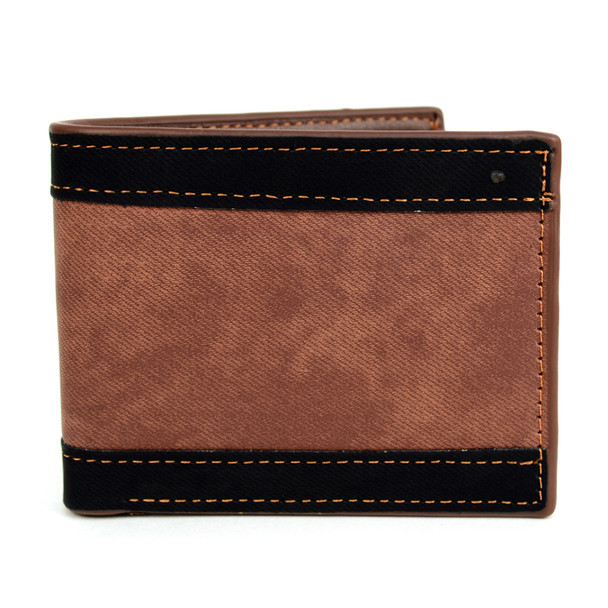 Bi-Fold  Leather Striped Wallet - MLW5186
