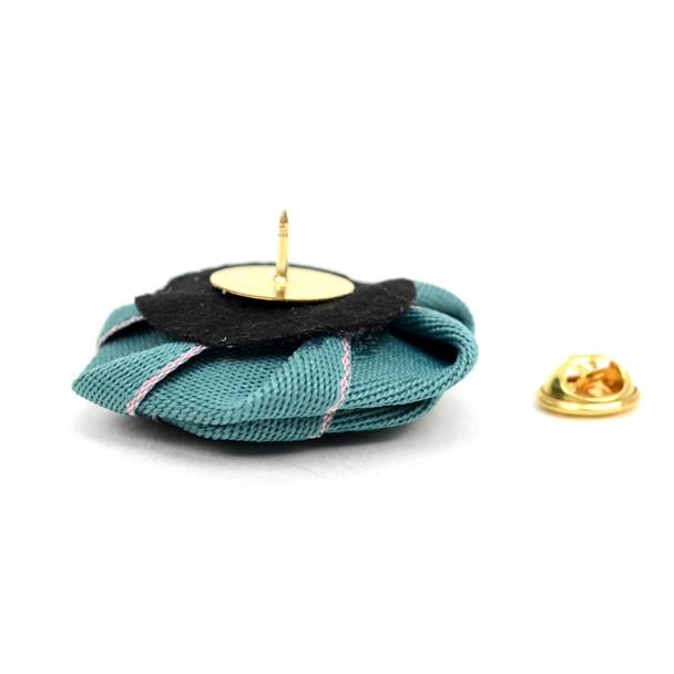 Men's Fabric Flower Boutonniere Clutch Back Lapel Pins - FLP1803