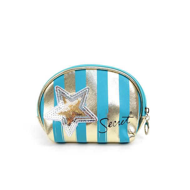 Ladies Clear & Stripes Makeup Bag 3pc Set Cosmetic & Toiletry Bags - LNCTB1708