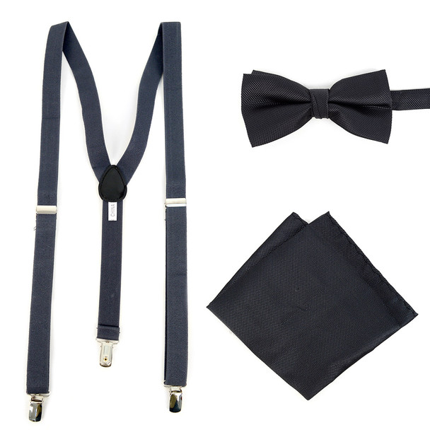 Men's Solid Color Clip-on Suspenders - BTHSU6308