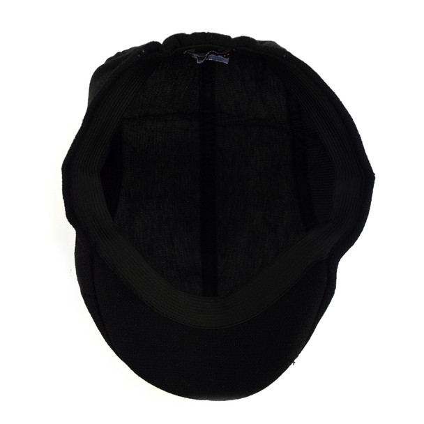Fall/Winter Solid Black Ivy Hat - H1805008