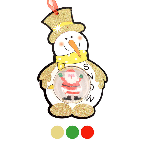 Snowman with Snow Dome Christmas Ornaments- XHDC5194