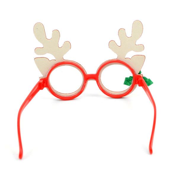 Novelty Glittered Antler Reindeer Frames Eyeglasses